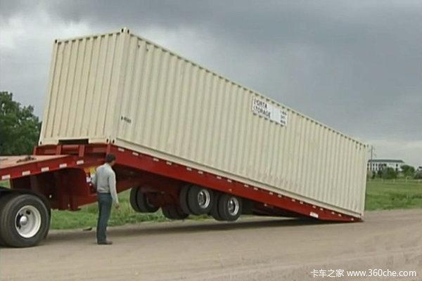 能移轴能自动装卸半挂版平板式清障车