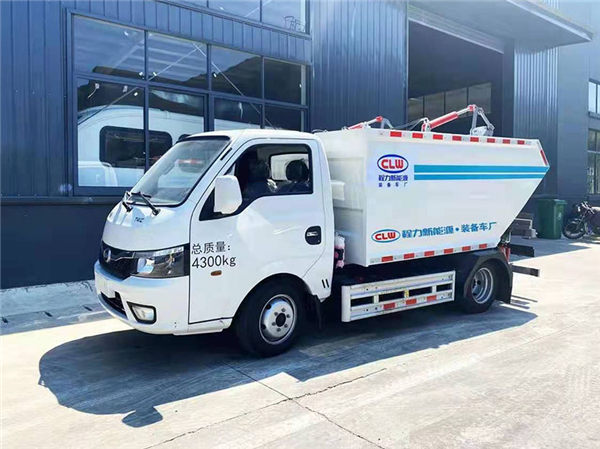 新能源纯电动比亚迪T4后装无泄漏挂桶式垃圾车-程力新能源厂家