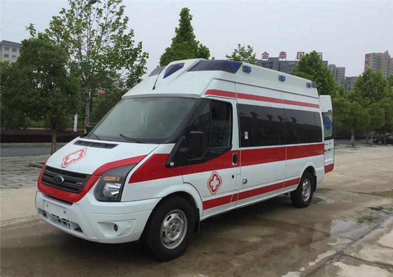 国六福特新世代V348航空舱救护车_母婴救护车-长轴高顶监护型救护车厂家直销