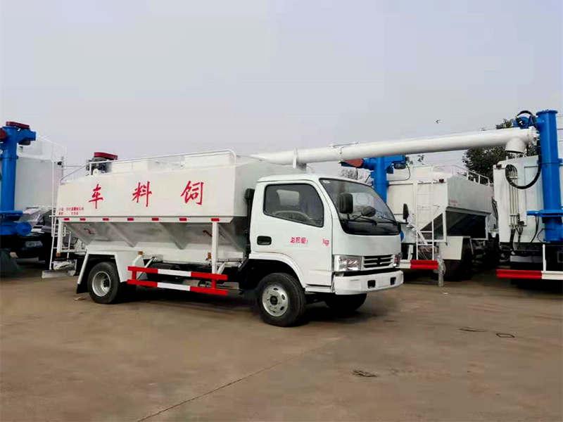 20吨饲料车厂家_小三轴饲料车价格_东风天锦22方散装罐车报价