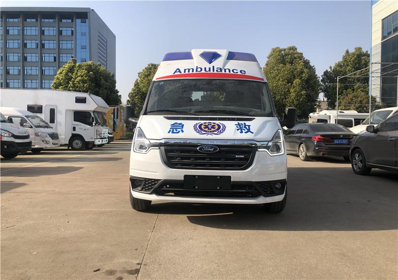 乡镇专用救护车——福特新世代V348Pro自动挡救护车荣耀上市——三甲医院专用救护车