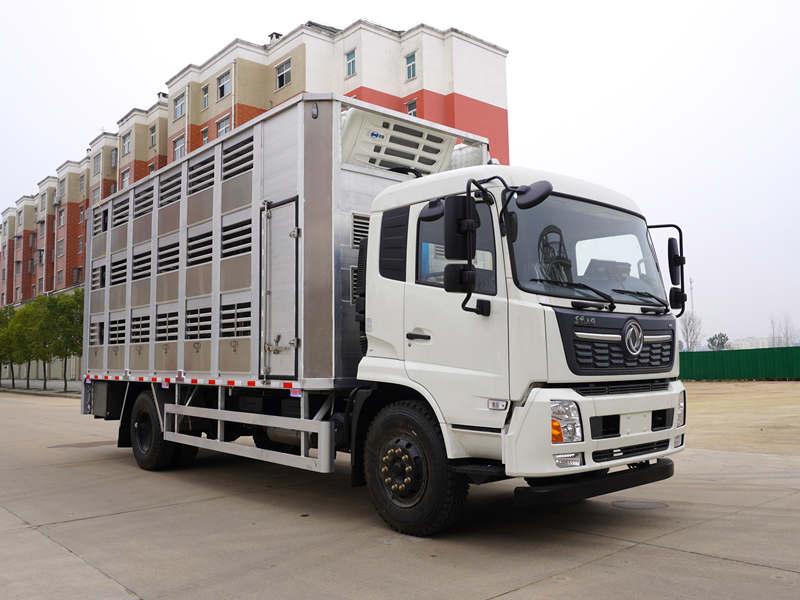 全铝合金畜禽运猪车价格_东风全铝恒温运猪车厂家_9.6米恒温畜禽运输车报价
