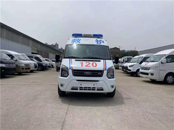 国六新车型 两台福特新全顺V362救护车现车直销订金随时随车发车