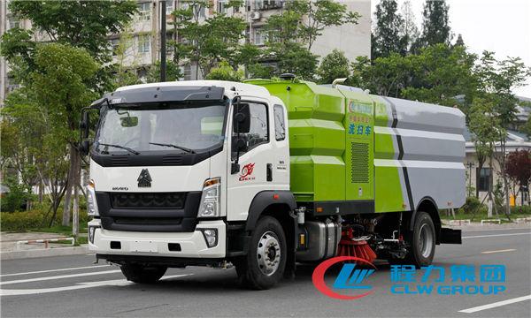國六重汽豪沃G5X洗掃車廠家/16方洗掃車價格
