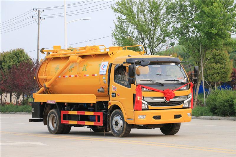 东风D7多利卡9.5立方清洗吸污车报价_图片