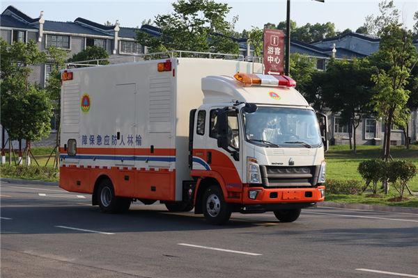 国六重汽豪沃应急抢险供电电源车