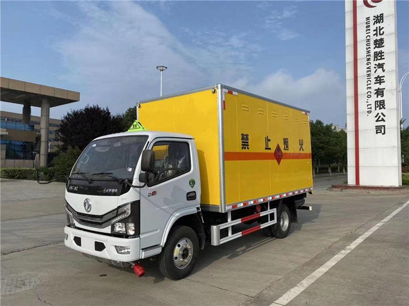 国六新款东风多利卡D6_4.2米易燃气体厢式运输车厂家图片价格-湖北大力危化品运输车
