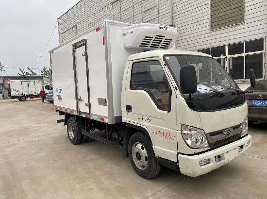 福田小卡3.5米國六柴油版小型冷藏車廠家報價_3米5冷藏車優惠多少錢