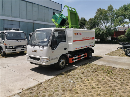 國六江淮康鈴4方(汽油柴油雙動力)側裝掛桶式垃圾車