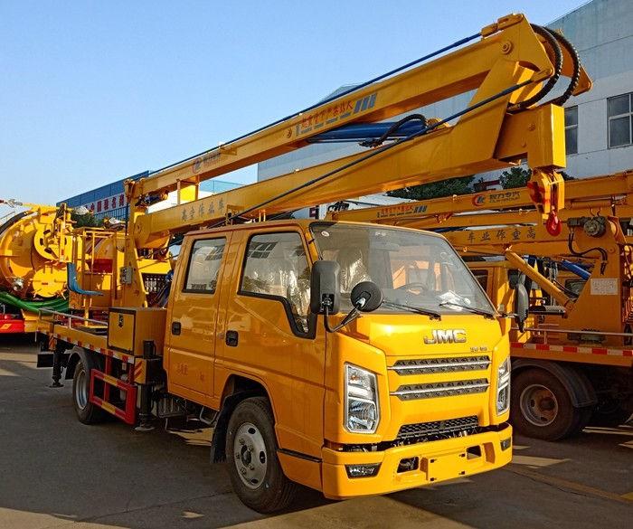 国六江铃顺达双排座17.5米折臂式高空作业车