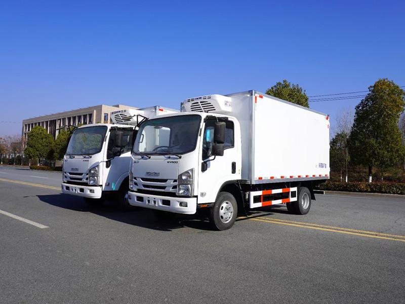 国六庆铃五十铃KV600冷藏车 鲜活水产品运输车报价