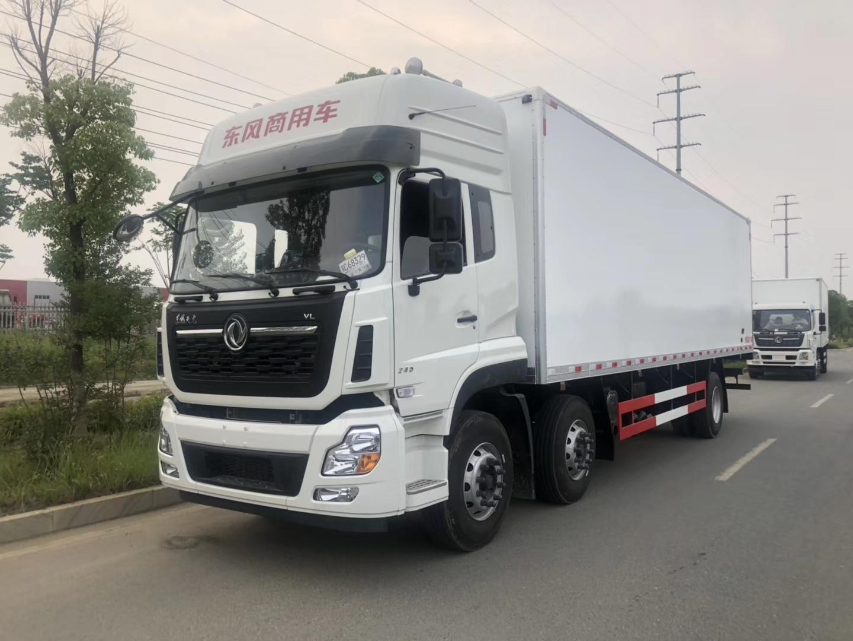 厂家直销推荐-东风天龙9.6米冷链运输车冷冻车 肉钩车 保鲜运输车