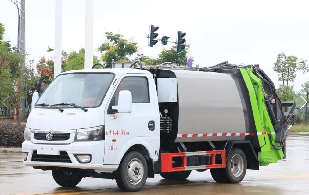 國六東風途逸4方壓縮式垃圾車多少錢