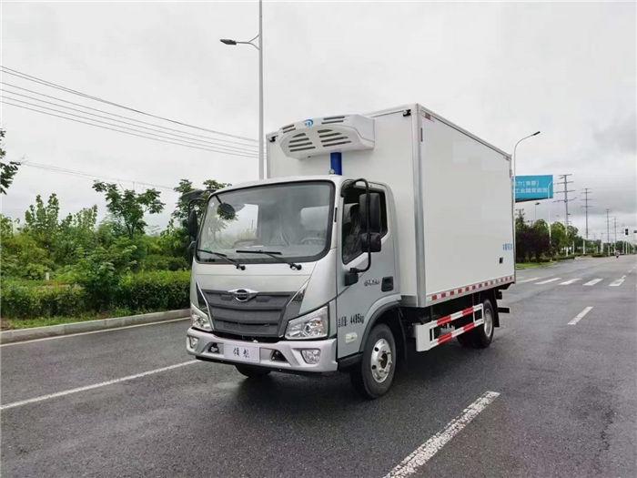 国六福田时代领航蓝牌4.2米冷藏车
