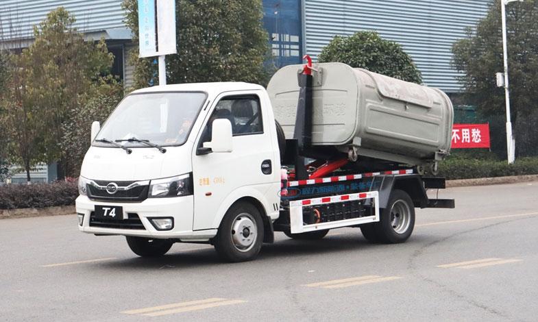 比亚迪新能源纯电动2.5方勾臂式垃圾车