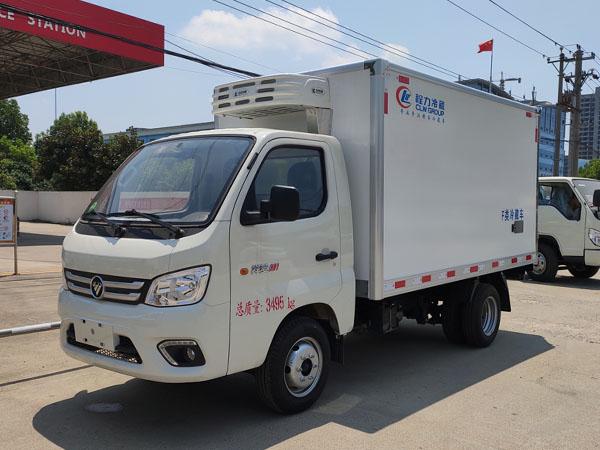 小型4.2米藍牌疫苗運輸車-國六福田祥菱M1冷藏車