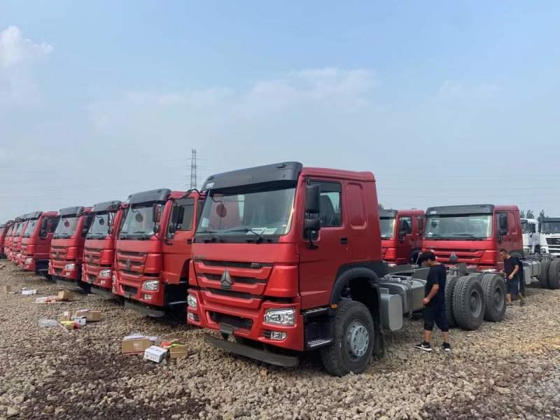豪沃礦用國二5.8米6*4自卸車可出口