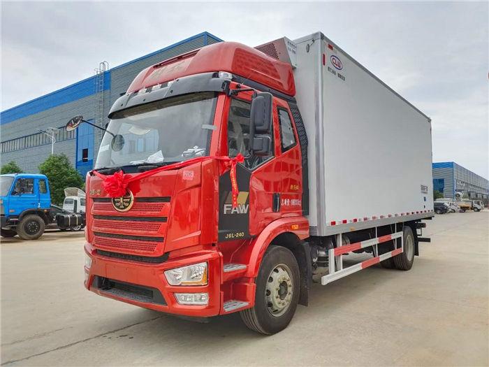 國六解放J6L精英版6米8冷藏車