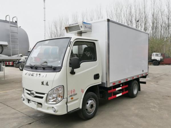 水果蔬菜冷藏運輸車推薦-躍進小福星S50廂長冷藏車