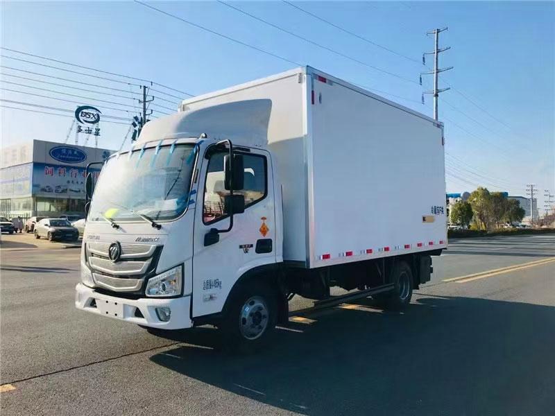 藍牌大空間冷藏車-福田歐馬可S3廂長4.08米冷藏車