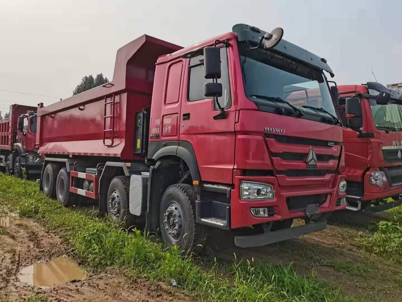 豪沃曼機400馬力6.5米渣土車紅色