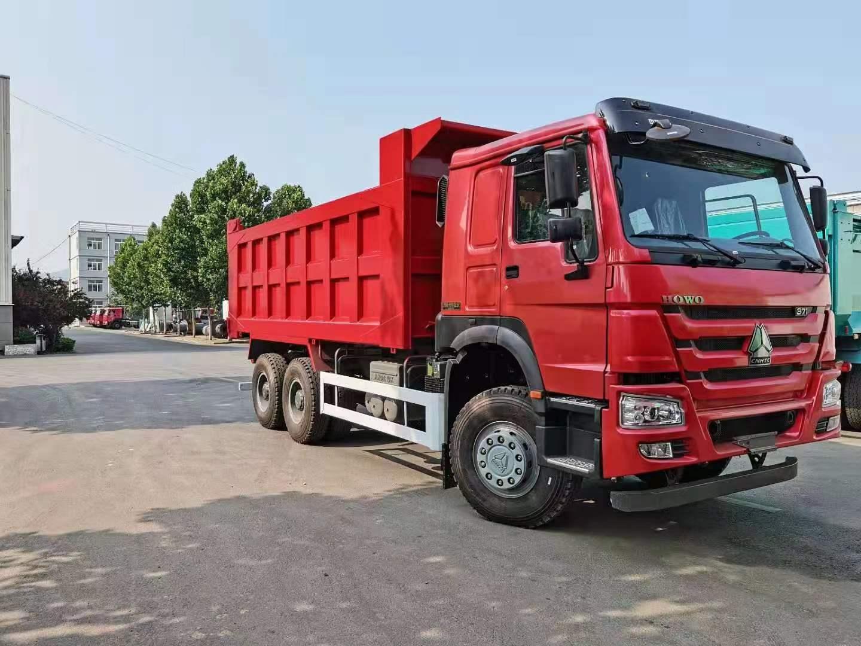 豪沃礦用國二371馬力后八輪自卸車可出口