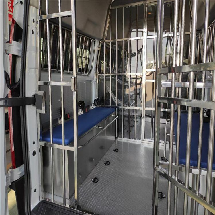 福特警用囚車廠家  V348囚車圖片和價格  江鈴福特汽油自動擋囚車