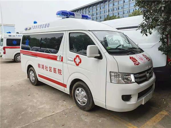 【熱門救護車車型】福田G7救護車 監護型救護車直銷 急救車配置及圖片