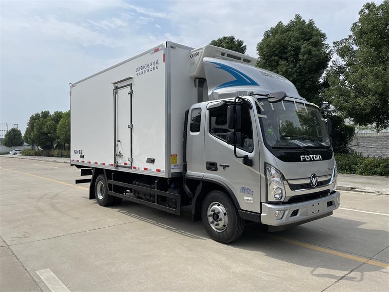 福田奧鈴CTS國六排半5米2冷藏車價格