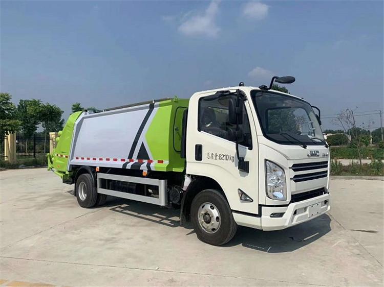 國六江鈴凱銳8方壓縮垃圾車多少錢一輛