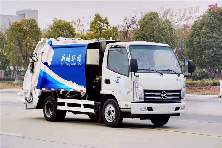國六凱馬5方壓縮式垃圾車多少錢一輛_價格