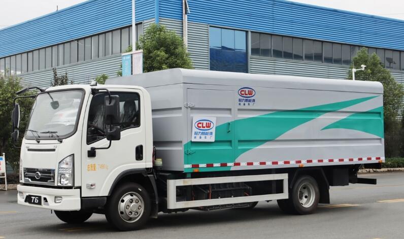 比亚迪T6纯电动密闭式桶装垃圾车
