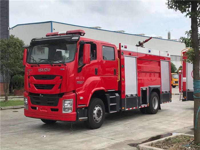 国六五十铃6.5吨泡沫消防车