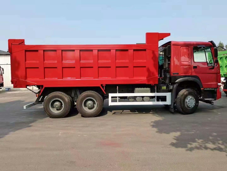 中国重汽豪沃V7 自卸车国二5.8米矿用新火红
