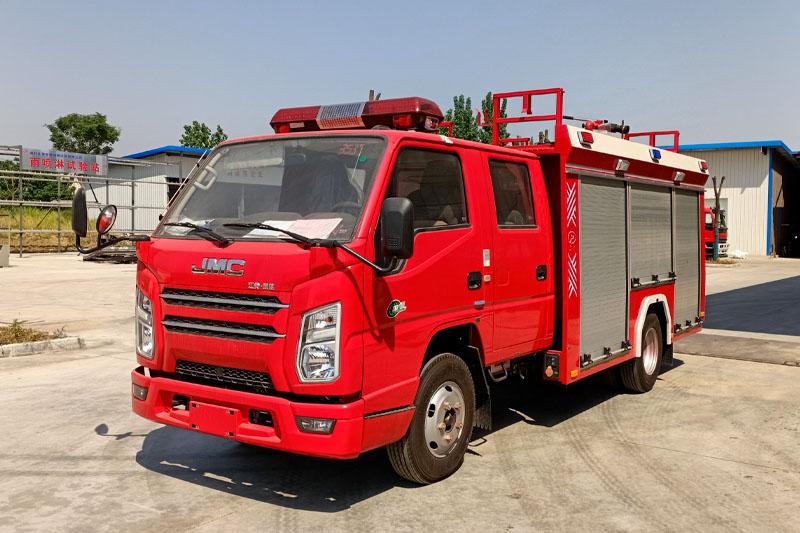国六江铃2吨水罐消防车