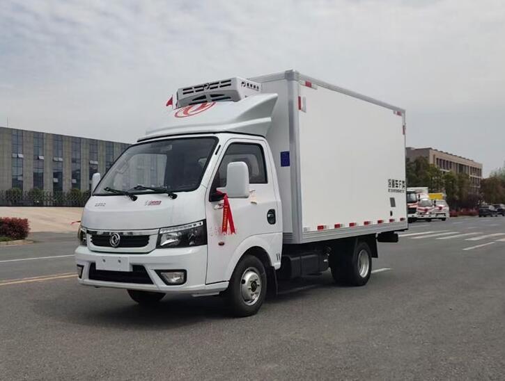 国六东风途逸蓝牌汽油3米5冷藏车