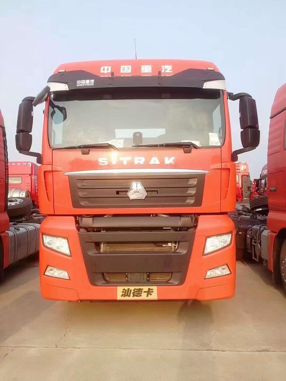 汕德卡牵引车480马力曼机桔红色国五法规版