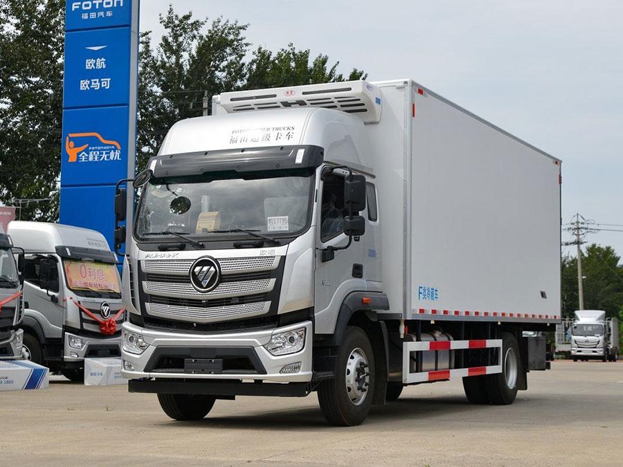 福田欧马可(欧航) 高顶双卧 国六6.6米冷藏车厂家直销