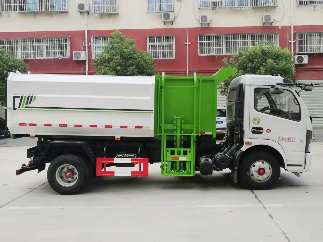 东风自卸式挂桶垃圾车