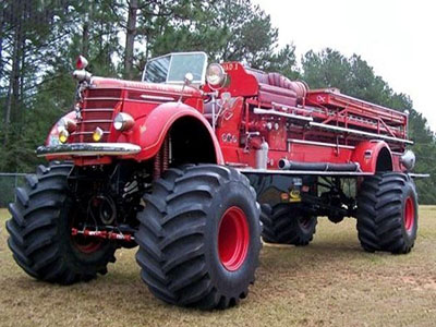 城会玩 消防车狂改世界最大最重越野车