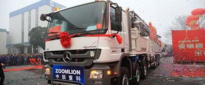 中联重科碳纤维臂架泵车追求卓越
