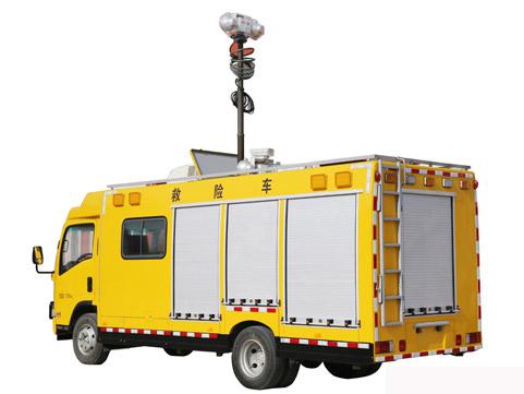 青岛九瑞汽车有限公司自主研发的国内首款高端多功能救险车正式下线