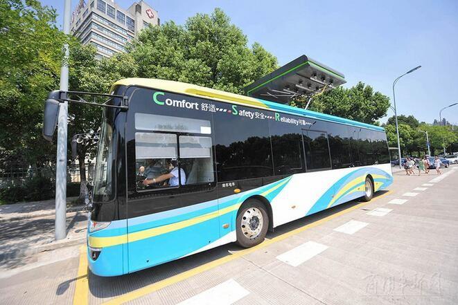 宁波又一条超级电容公交线即将投用
