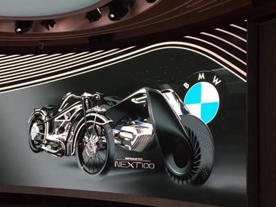 宝马百年概念摩托车已发布:不用戴头盔了