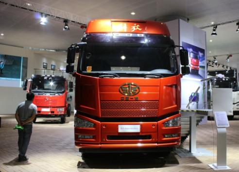 """五家卡车企业在广州车展""""大动干戈"""""""