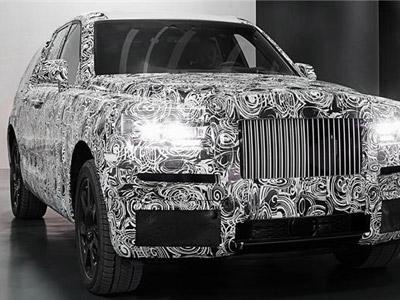 劳斯莱斯首款SUV Cullinan伪装正式亮相
