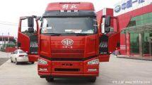 新车到店济宁解放J6P载货车自重9.6吨