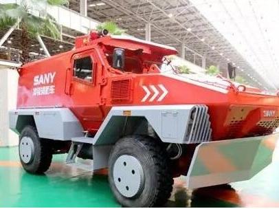 国内首台冲锋消防车在三一重工下线