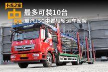 最多可装10台重汽J5G中置轴轿运车图解
