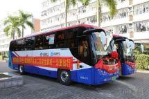 首批深圳第二高中校园接驳巴士试运行